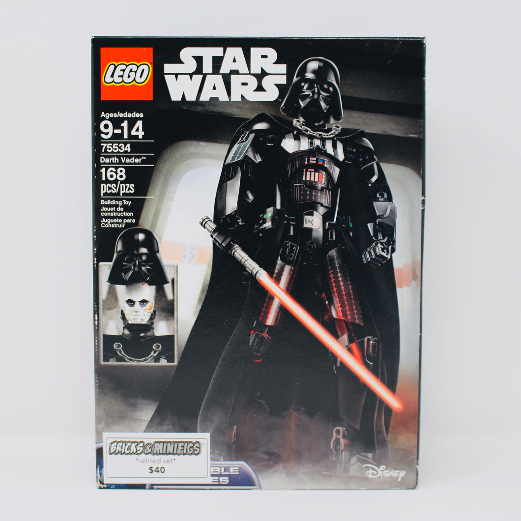 Retired Set 75534 Star Wars Buildable Figures Darth Vader