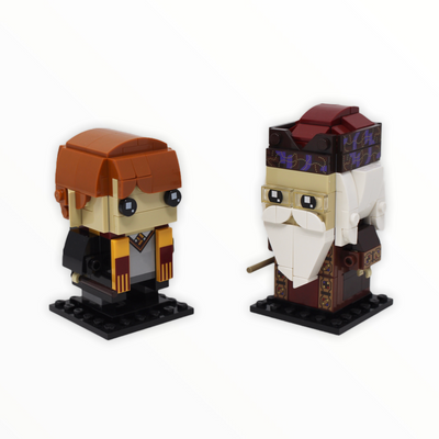 Used Set 41621 Harry Potter BrickHeadz Ron Weasley & Albus Dumbledore
