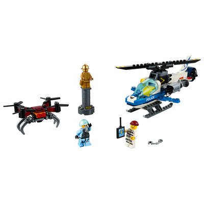 New Set 60207 City Sky Police Drone Chase