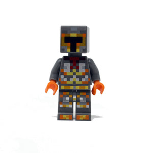 Minecraft Skin 1 (orange and silver/grey armor)