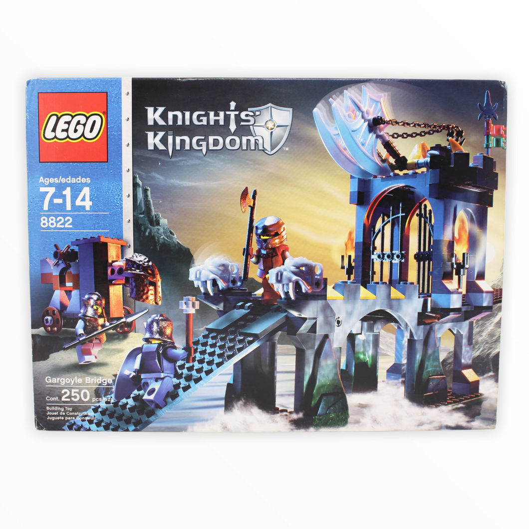 Certified Used Set 8822 Knight's Kingdom Gargoyle Bridge