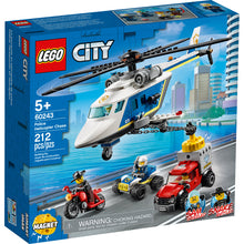 New Set 60243 City Police Helicopter Chase