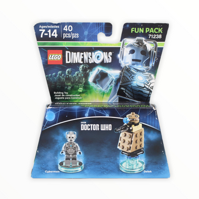 Retired Set 71238 Dimensions Fun Pack - Doctor Who (Cyberman and Dalek)