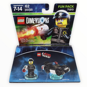 Retired Set 71213 Dimensions LEGO Movie Bad Cop and Police Car