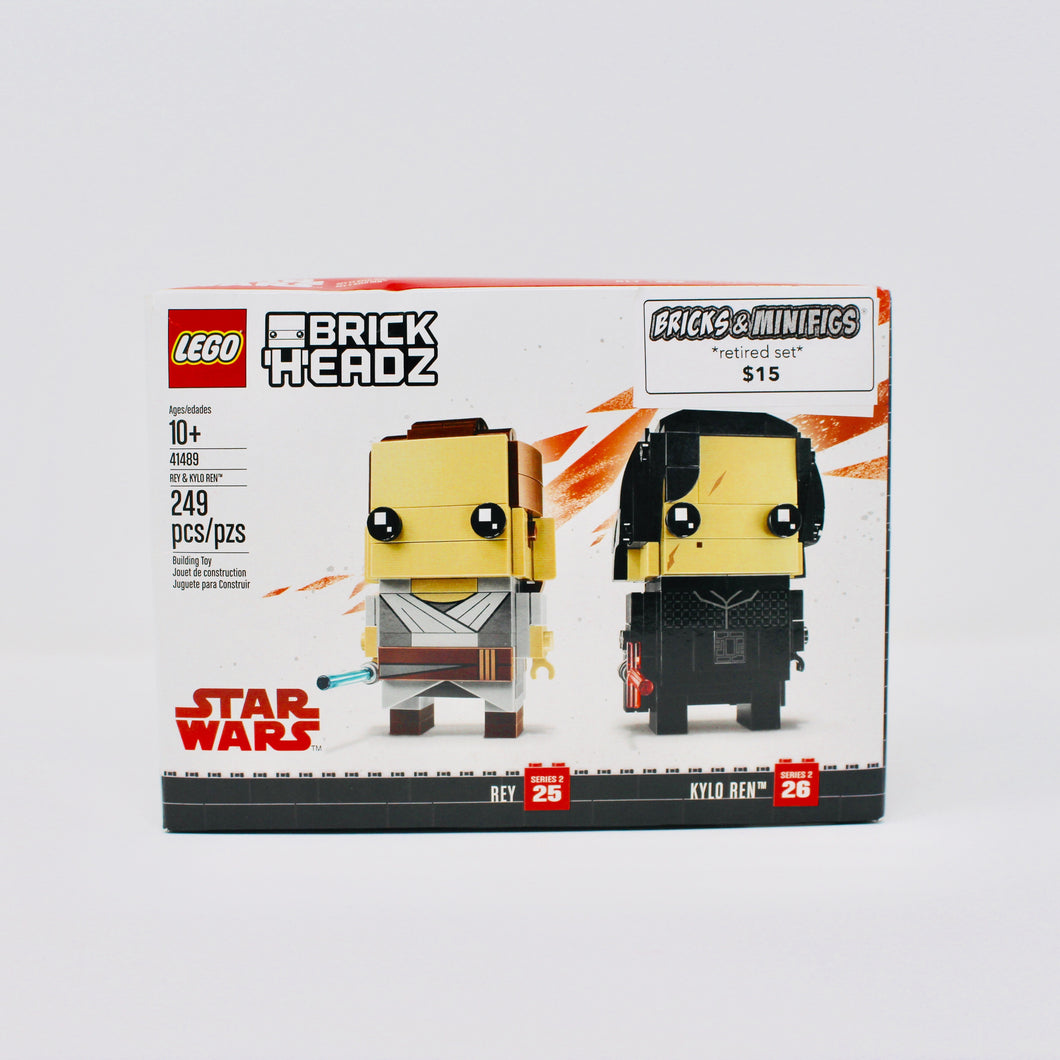 Retired Set 41489 Star Wars BrickHeadz Rey & Kylo Ren