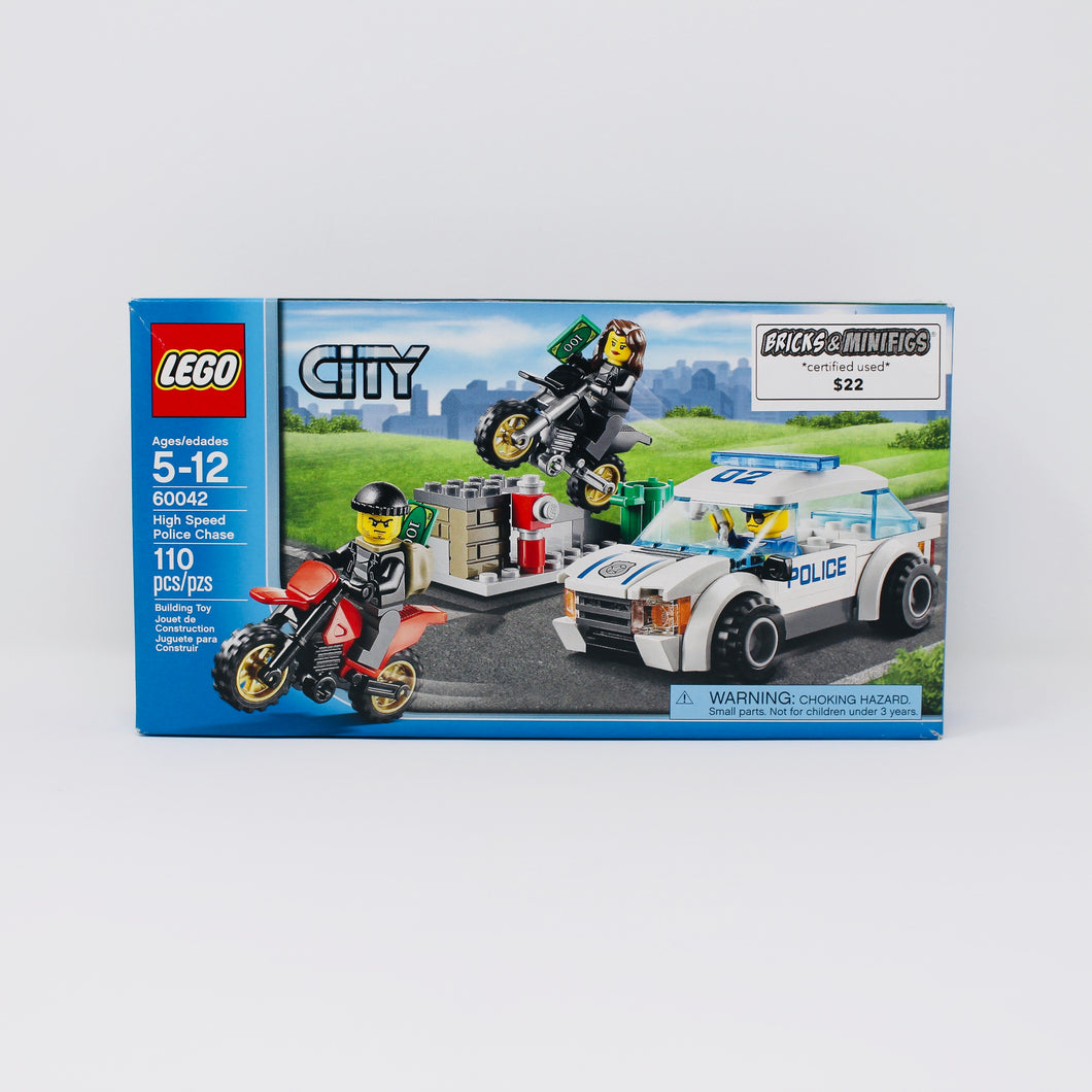 Certified Used Set 60042 City High Speed Police Chase