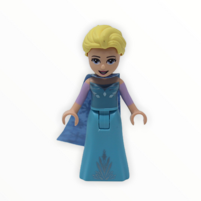 Elsa (medium blue, narrow cape with snowflakes)