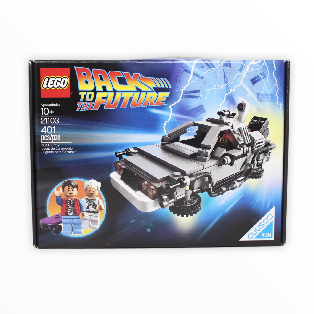 Certified Used Set 21103 LEGO Ideas The DeLorean Time Machine