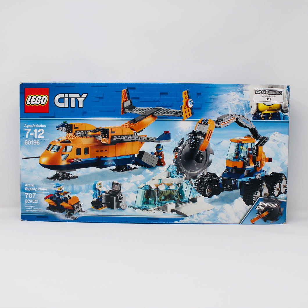 Certified Used Set 60196 City Arctic Supply Plane (2018)