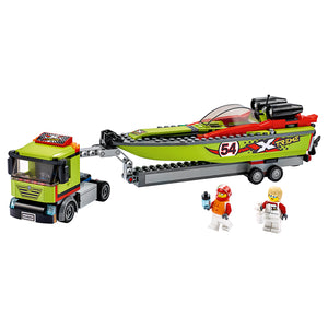 New Set 60254 City Race Boat Transporter