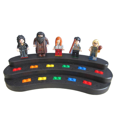 Minifigure Display Stand (black and rainbow)