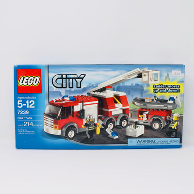 Certified Used Set 7239 City Fire Truck