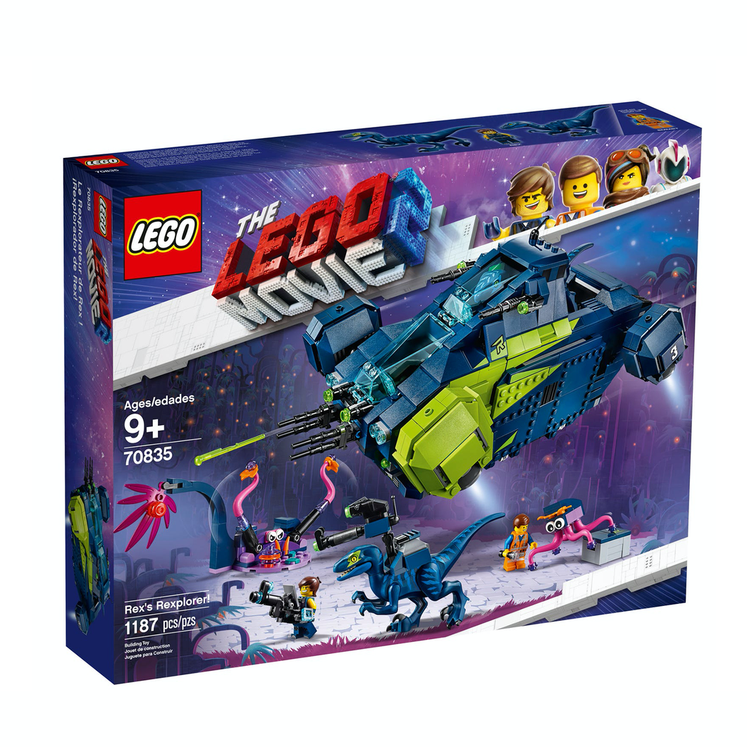 Retired Set 70835 LEGO Movie 2 Rex's Rexplorer!