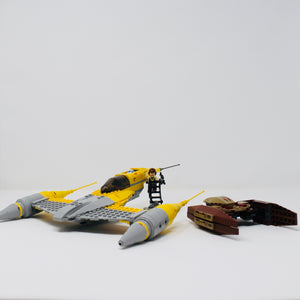 Used Set 7660 Star Wars Naboo N-1 Starfighter and Vulture Droid