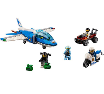 New Set 60208 City Sky Police Parachute Arrest