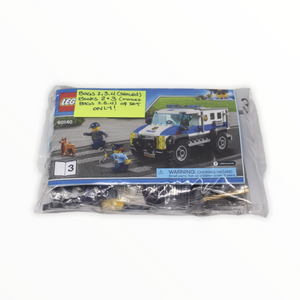 Bagged Set 60140 City Bulldozer Break-in (Police Van and Police Helicopter only)