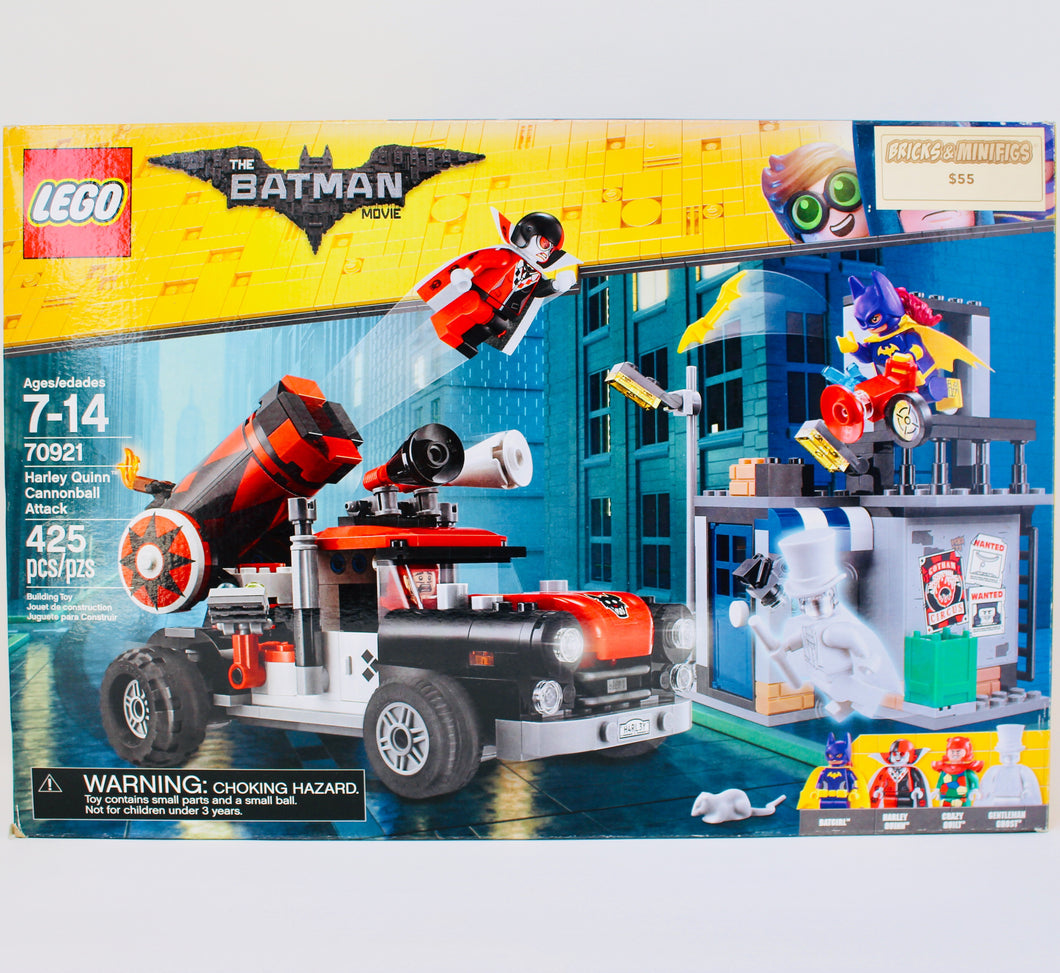 Retired Set 70921 The LEGO Batman Movie Harley Quinn Cannonball Attack