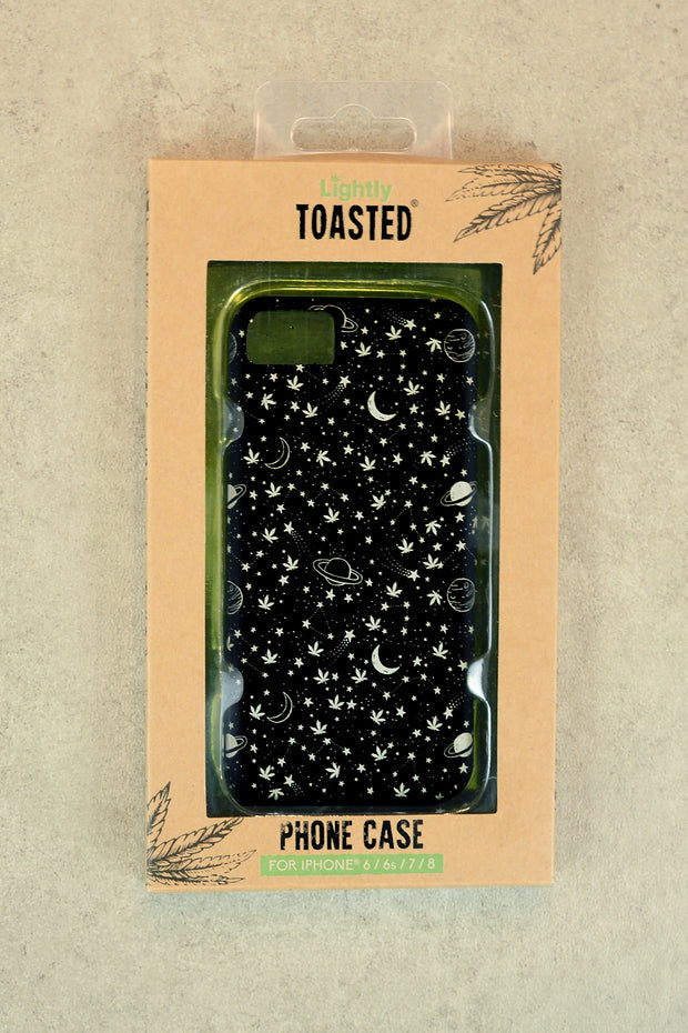 Lightly Toasted Celestial Print iPhone Case in packaging