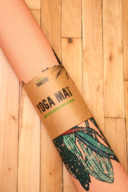 Lighty Toasted Free Spirit Yoga Mat rolled up