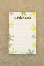 Lightly Toasted 'Highdeas' Magnetic Notepad with leaf pattern