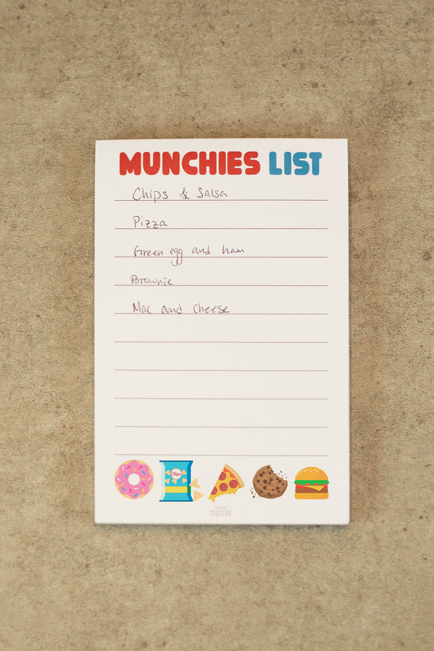Lightly Toasted 'Munchies List' Notepad
