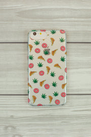 Lightly Toasted Pizza Print iPhone Case