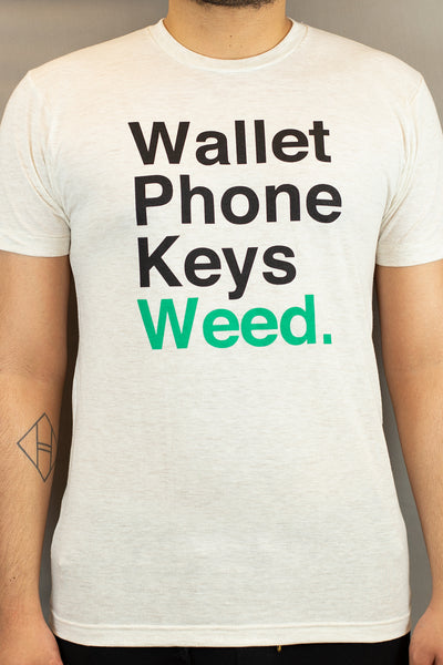 Lightly Toasted T-Shirt - Wallet Phone Keys (Mens)