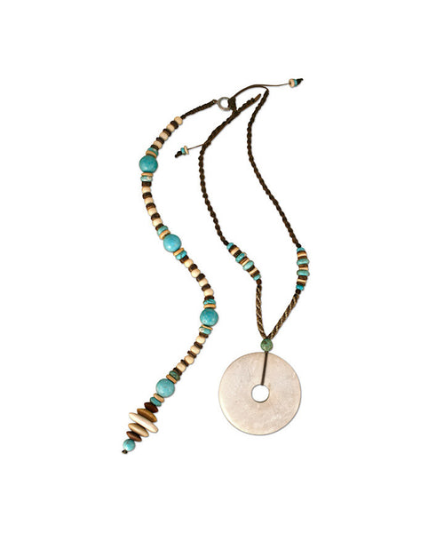 Tribal Turquoise Posture Reminder Necklace