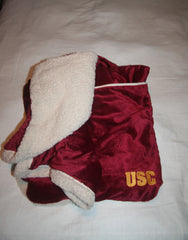 USC Embroidered Microsherpa Throw