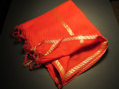 """Game Day or Any Day"" Cardinal and Metallic Gold Scarf, Shawl or Wrap"