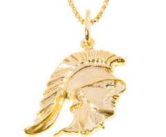 Tommy Trojan Pendant, Sterling Silver or 18K Gold over Bronze