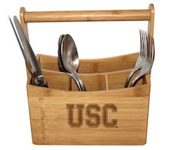 USC College Artisan Bamboo Caddy