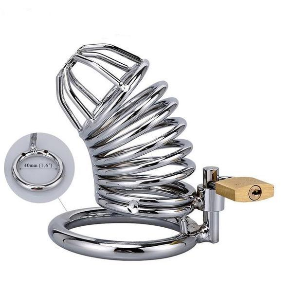 Steel Cock Cage Chastity (40/45/50mm) - sex toys SexWeLove ™ 40mm 2 Online Adult Shop & Sexy Lingerie Sexwelove