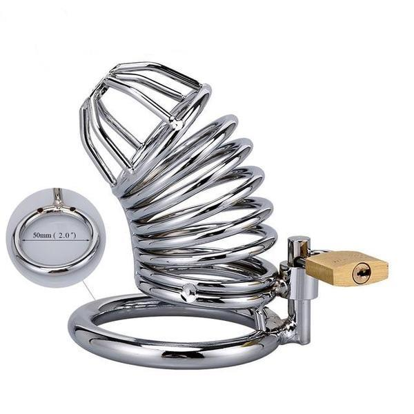 Steel Cock Cage Chastity (40/45/50mm) - sex toys SexWeLove ™ 50mm 2 Online Adult Shop & Sexy Lingerie Sexwelove