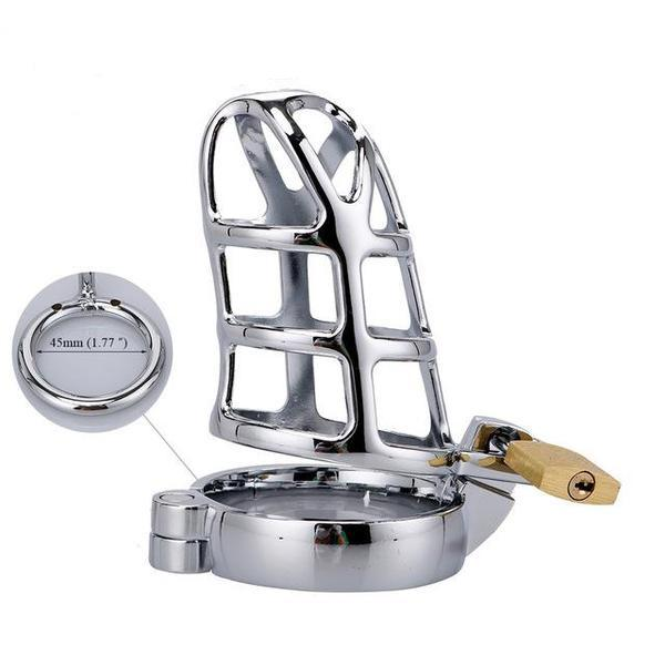 Steel Cock Cage Chastity (40/45/50mm) - sex toys SexWeLove ™ 45mm Online Adult Shop & Sexy Lingerie Sexwelove
