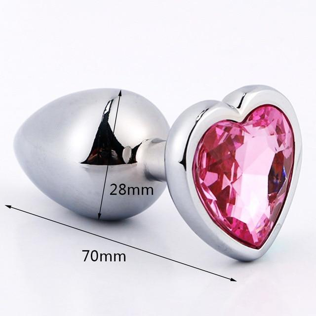 Metal Anal Plug With Crystal Jewelry - sex toys SexWeLove ™ Heart Small Online Adult Shop & Sexy Lingerie Sexwelove