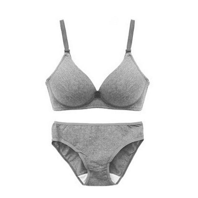 Bra Sets Push-Up Padded & Panties - Lingerie SexWeLove ™ Gray / B / 32 Online Adult Shop & Sexy Lingerie Sexwelove