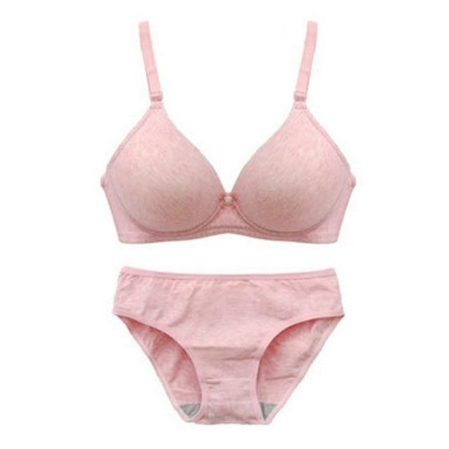 Bra Sets Push-Up Padded & Panties - Lingerie SexWeLove ™ Pink / B / 32 Online Adult Shop & Sexy Lingerie Sexwelove