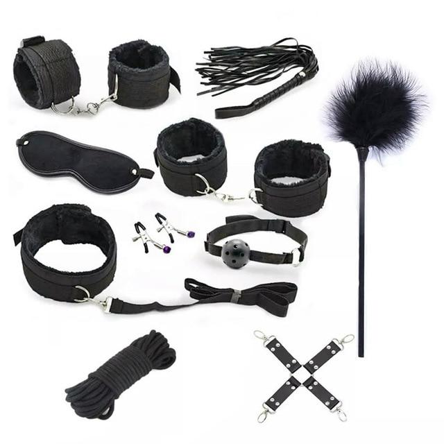 BDSM Premium Kit - Bondage SexWeLove ™ Black 10 Pieces Online Adult Shop & Sexy Lingerie Sexwelove