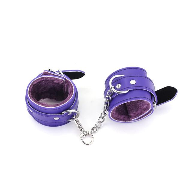 Kit Handcuffs & Ankle Cuffs - Bondage SexWeLove ™ Purple Cuffs Online Adult Shop & Sexy Lingerie Sexwelove