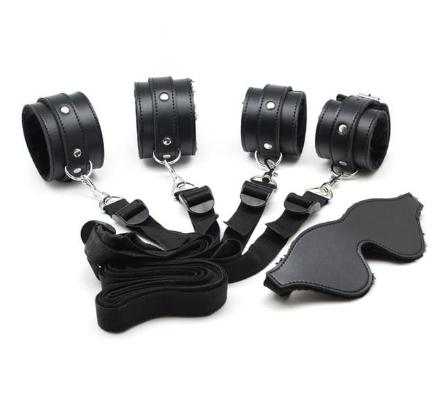 Kit Handcuffs & Ankle Cuffs - Bondage SexWeLove ™ Black Kit Online Adult Shop & Sexy Lingerie Sexwelove