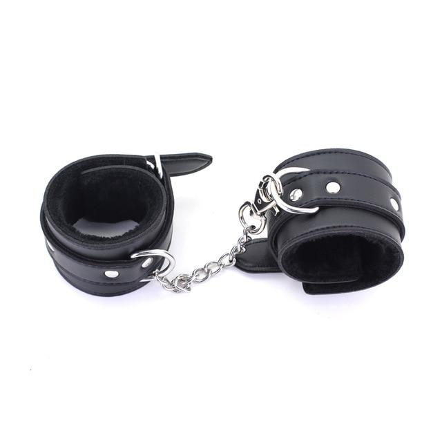 Kit Handcuffs & Ankle Cuffs - Bondage SexWeLove ™ Black Cuffs Online Adult Shop & Sexy Lingerie Sexwelove