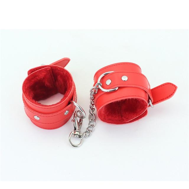 Kit Handcuffs & Ankle Cuffs - Bondage SexWeLove ™ Red Cuffs Online Adult Shop & Sexy Lingerie Sexwelove