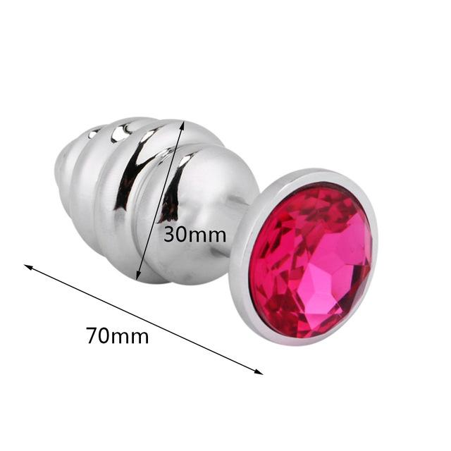 Anal Plug 3.1 Inch With Crystal Jewelry - sex toys SexWeLove ™ Screw Small Online Adult Shop & Sexy Lingerie Sexwelove