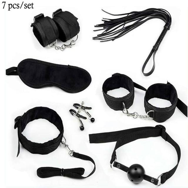BDSM Set Kit - Bondage SexWeLove ™ Black 7 Pieces Online Adult Shop & Sexy Lingerie Sexwelove
