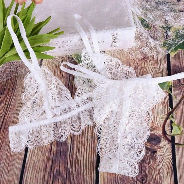 Sexy Lace Push Up Bra Set Transparent - Lingerie SexWeLove ™ White / A / 32 Online Adult Shop & Sexy Lingerie Sexwelove