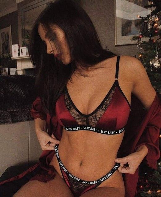 Sexy Bra Set & Thong - Lingerie SexWeLove ™ red / L Online Adult Shop & Sexy Lingerie Sexwelove