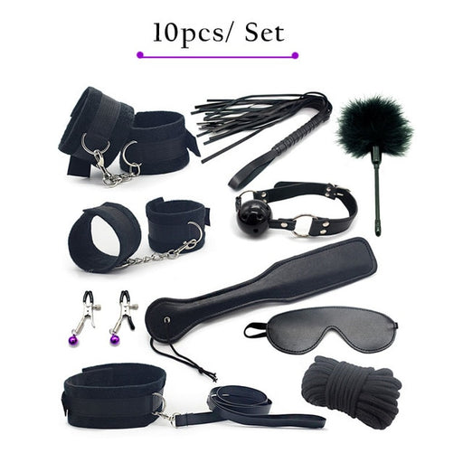 Erotic Toys For Couples Bondage Set Nylon (10 Pieces) - sexwelove