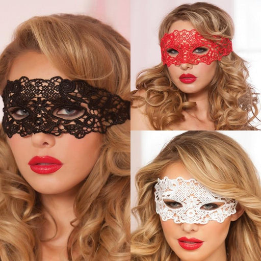 Eye Mask Black/White/Red - Bondage SexWeLove ™ Online Adult Shop & Sexy Lingerie Sexwelove