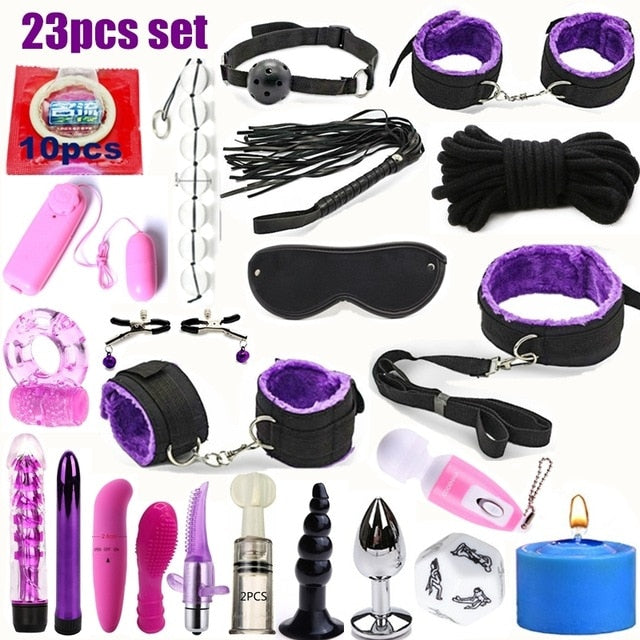 Sexwelove Bondage Sex Toy Kit (23 Pieces) - Bondage Sexwelove 23 Pieces Online Adult Shop & Sexy Lingerie Sexwelove